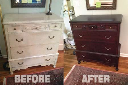 FinishSmith Before and After of Wood Refinishing