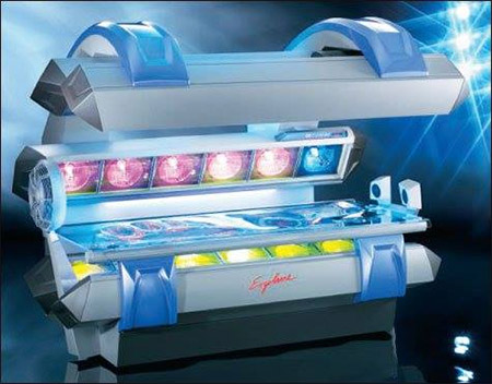 Skin Deep Mega Tanning - Northeast Ohio - Array of tanning beds lets clients customize their hue; VersaSpa sunless system creates instant color