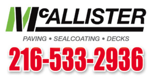 McAllister Paving, Sealcoating & Decks - Cleveland Heights, Ohio