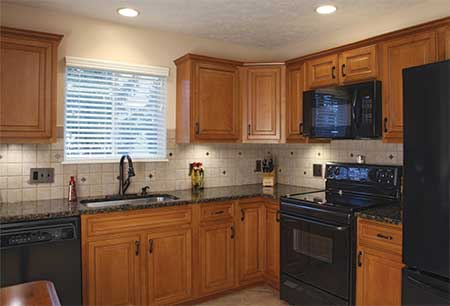 American Wood Reface - Medina. Ohio - Kitchen Cabinet Solid Hardwood Refacing, Kitchen Countertop Replacement - Completed in about a week!