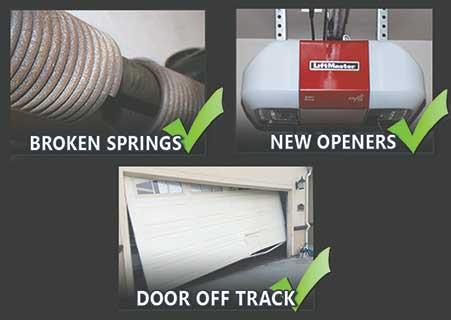 Discount Garage Door Repair - Cleveland and Akron, Ohio - New Garage Installation, New Opener Installation, Broken Spring Repair, Door Off Track Repair