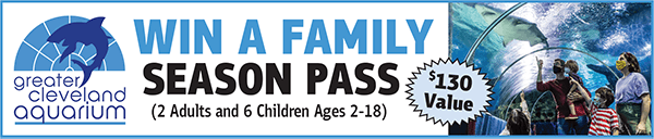 WIN a Family Season Pass (2 Adults and 6 Children Ages 2-18) for the Greater Cleveland Aquarium ($130 Value)