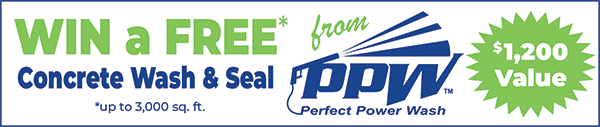 Win a FREE* Concrete Wash & Seal from Perfect Power Wash - $1,200 Value *up to 3,000 sq. ft.