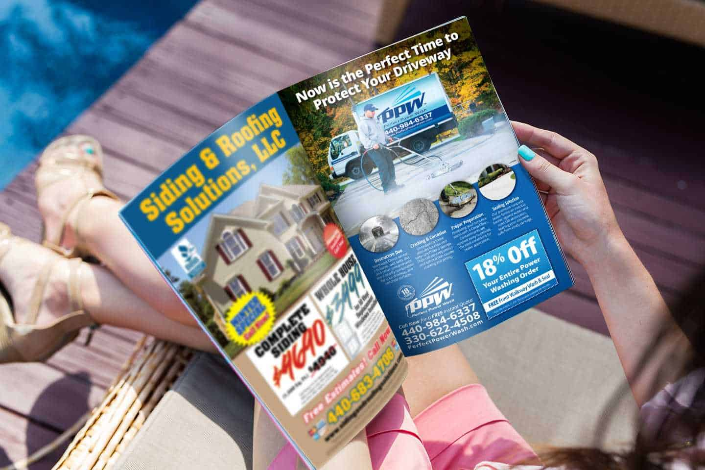 Cleveland and Akron direct mail marketing magazine including the benefits of digital marketing and email marketing services